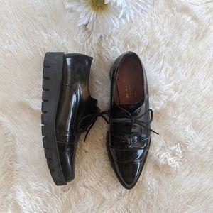 ELIZABETH WNs Black Patent Leather Platform SZ 39